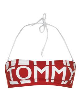 Tommy Bodywear Bold Logo Bandeau Bikini Top