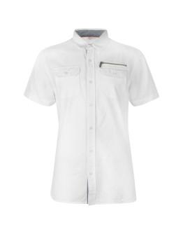 Lee Cooper Short Sleeve Zip Shirt Mens