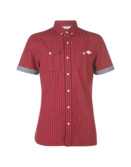 Lee Cooper Short Sleeve Gingham Shirt Mens