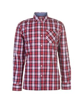 Lee Cooper Long Sleeve Check Shirt Mens