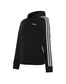 adidas Womens 3-Stripes Zip Fleece Track Top Hoodie